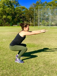 Squat - maintain knee over toe position